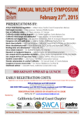 ANNUAL WILDLIFE SYMPOSIUM February 27 , 2015