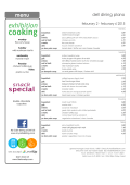 Dell Dining Plano Weekly Menu