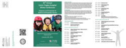 45th Annual Carrie Tingley Hospital Winter Conference Diagnosis