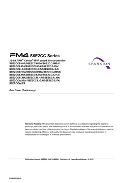 S6E2CC Series 32-bit ARM® Cortex®-M4F based