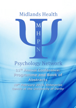 MHPN 2015 Conference Programme