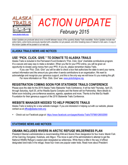 ACTION UPDATE - Alaska Trails