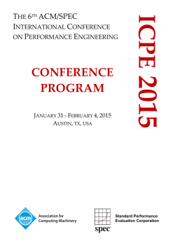 Full Program as PDF - ICPE 2015