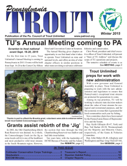 HERE - Pennsylvania Council of Trout Unlimited