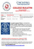 College Bulletin - Cascia Hall Preparatory School