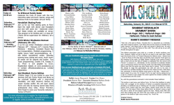 Youth Events - Beth Sholom Synagogue