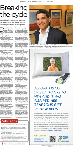 Read PDF Article - Markham Stouffville Hospital Foundation