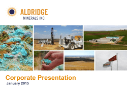 Corporate Presentation - Aldridge Minerals Inc.