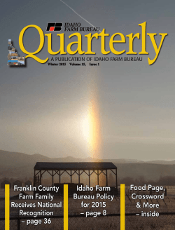 FB Quarterly - Idaho Farm Bureau
