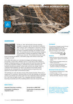 course brochure - Mine Closure 2015