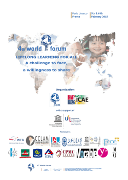 4th world forum - Lifelong Learning today