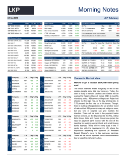 Morning Notes - LKP Securities