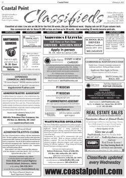 Classifieds - Coastal Point