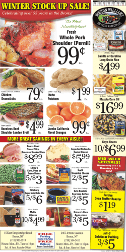 Bronx Stores - Morton Williams Supermarkets!