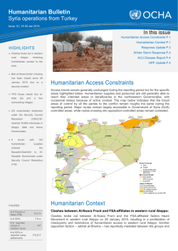 20150130_Humanitarian Bulletin_Issue#12
