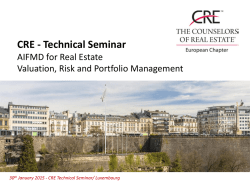 CRE - Technical Seminar - The Counselors of Real Estate