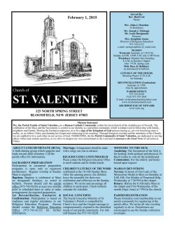 Download File - St. Valentine Church, Bloomfield, NJ