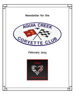 ACCC February Newsletter - Aquia Creek Corvette Club