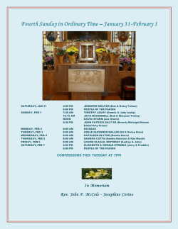 Bulletins - St Rose of Lima Eddystone