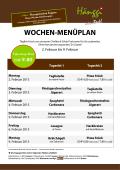 WOCHEN-MENÜPLAN