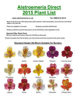 Alstroemeria Direct 2015 Plant List