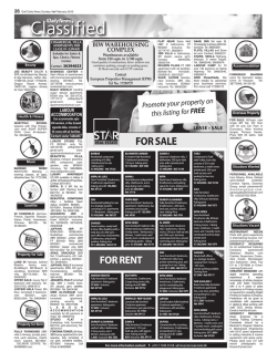 Classified - Gulf Daily News