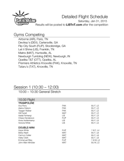 Flight Sheets for 2015 LIS Invitational