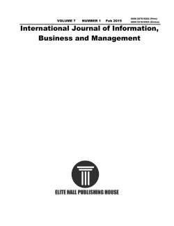 Vol.7, No.1 2015 - International Journal of Information, Business and