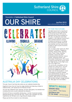 OUR SHIRE - Sutherland Shire Council