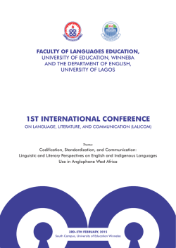 LALICOM Conference Final - University of Education, Winneba