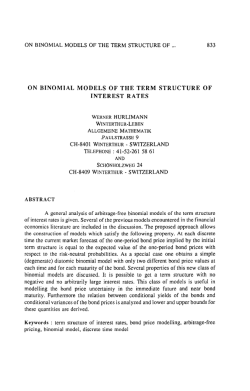 On Binomial Models of the Term Structure of Interest