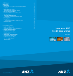 How your ANZ Credit Card works