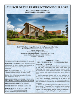 bulletin! - Church of the Resurrection of our Lord