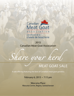 Share your herd - the Canadian Meat Goat Association