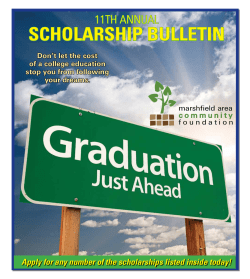 2015 Scholarship Bulletin - Marshfield Area Community Foundation