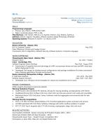Resume - Huy Le