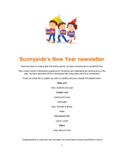 View Latest Newsletter - Sunnyside Day Nursery Offerton, Stockport