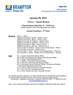 City Council Agenda for January 28, 2015