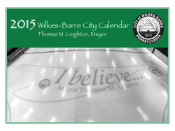 2015 Wilkes-Barre City Calendar - The City of Wilkes