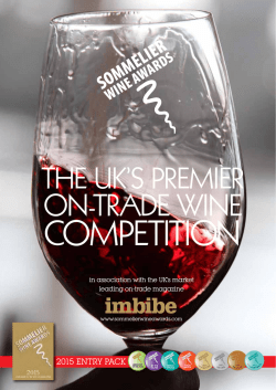 SWA information - Sommelier Wine Awards