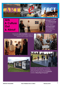 to download the latest Arts Calendar for Ballarat