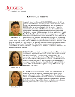 Current Kinoy-Stavis Fellows - Rutgers School of Law
