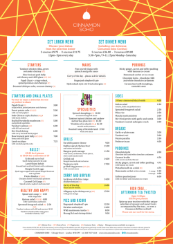 to download sample lunch menu
