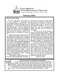 Newsletter - Lexington Presbyterian Church