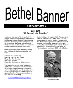 February 2015 - Bethel Lutheran Church, Winchester, Virginia