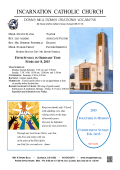 Bulletin - Church of the Incarnation