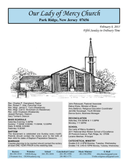 Current Bulletin - Our Lady of Mercy Church
