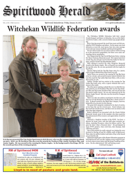 Witchekan Wildlife Federation awards