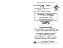 K-9 Obedience Obedience Obedience Training Training Club
