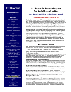 RERI 2015 RFP - Real Estate Research Institute